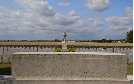 Vignacourt British Cemetery, Somme, France. Photograph source CWGC website