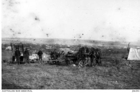Wagons of the 4th Division DAC c 1918. Photograph donor C.W.L. Muecke, photograph source AWM J06293