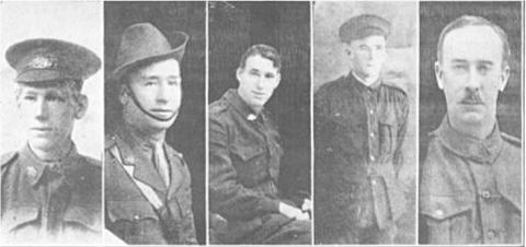 Walsh sons L-R Henry, Sydney, George, William.  Photo reproduced with permission of Hesperian Press 2014 p81