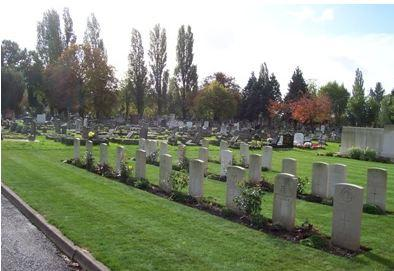 Willesden New Cemetery. Photograph sourced from Commonwealth War Graves Commission website