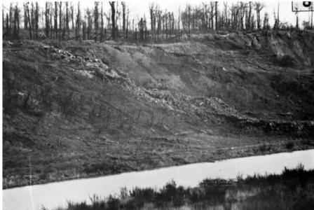 Ypres-Comines Canal near Hollebeke 1917. Photographer unknown, photograph  donated by the Imperial War Museum, source AWM  H15913D