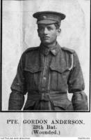 Pte. Anderson Gordon 1916. Photographer unknown. Photo source AWM P06954.002