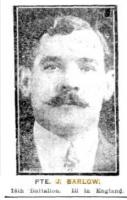 Barlow Joseph. Photograph Sunday Times 10.10.1915 p1