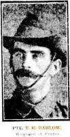 Barlow T R . Photograph source The Sun-Kalgoorlie 6.5.1917