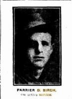 Sgt. Birch D. Farrier. Photograph source Sunday Times 12.8.1917 p1