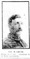 Cpl. H Greay. Photo source The Sun 15.4.1917 p6