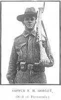 Sapper T.H.Godley.  Photo source Western Mail 30 7 1915  p1s