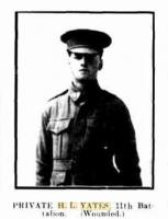 Pte. Harry Leslie Yates. Photo source Western Mail 8.9.1916 p23