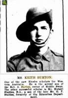 Keith Alfred Burton.  Photo source Western Mail 9.10.1919 p25