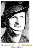 L. C. Deschamps WW2. Photo source Western Mail 1.7.1943.p2