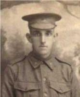 Leslie Frank Piercy 13th Aug 1917 at Blackboy Hill. Portrait., Photograph donor G Piercy, photograph source SGHS  Pictorial Collection
