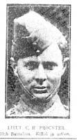 2nd.Lieut. H. C. Procter 1915. Photo source Sun, Kalgoorlie 5.12.1915 p6