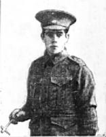 Pte. Arthur King of Guildford. Photo source Swan Express 24.11.1916 p5