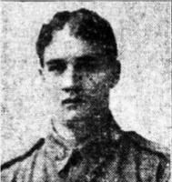 Pte. C.H.C.Smith. 28th Bn.1916. Photo source Daily News 7.2.1916