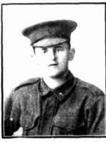 Pte. Hugh Donald Turner. Photo source Western Mail 29 9 1916 p 27