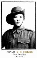 Pte. A. A. Pollard.  Photo source Western Mail 9.7.1915 p4