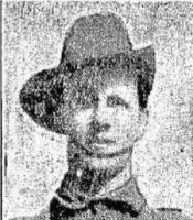 Pte. D. W. Carlson portrait. Photo source Daily News 27.8 .1915