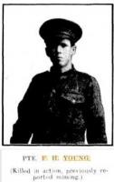 Pte. Francis Henry Young. Photo source Western Mail 12.10.1917 p1
