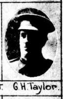 Pte. George H. Taylor. Photograph source The Queenslander, Brisbane 6.9.1917 p26
