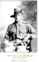 Pte. J. H. Murray. Photo source Western Mail 18.6.1915 p4