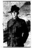 Pte. J. J. Harman. Photograph source Sunday Times 21.9.1919 p7