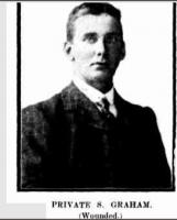 Pte. Samuel Graham. Photo source Western Mail 23.7.1915 p6