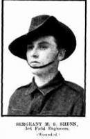 Sgt. M.S. Shenn. Photo source Western Mail 16.7.1915 p5