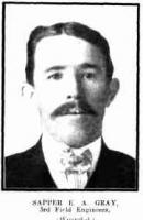 Spr. E.A. Gray. Photo source Western Mail 16.7.1915 p5