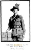 Watts, Keith Everard. Photograph source Western Mail 17.12.1915 p23
